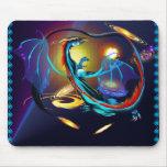 Blue Galaxy Dragon_Mousepad Mouse Pads