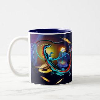 Blue Galaxy Dragon Mugs