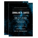 Blue Galaxy Graduation Party Invite at Zazzle