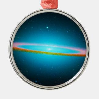 Blue Galaxy Metal Ornament