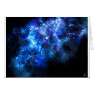 Blue Galaxy Print Card