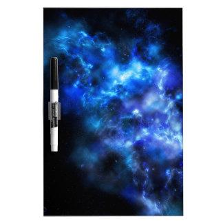 Blue Galaxy Print Dry Erase Board