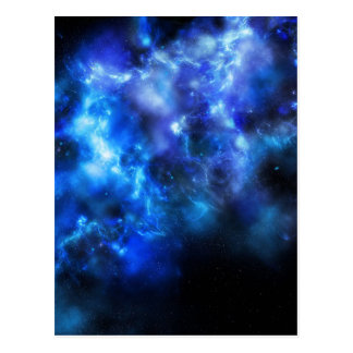 Blue Galaxy Print Postcard