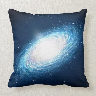 Blue Galaxy Space Throw Pillow