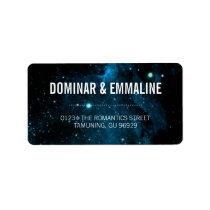 Blue Galaxy Wedding Address Labels