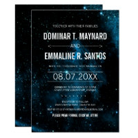 Blue Galaxy Wedding Invitation