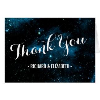 Blue Galaxy Wedding Thank You Cards