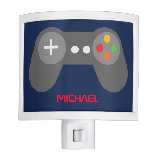 Blue Game Console Controller Night Light