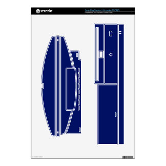 Blue Gaming Skins-Microsoft & SonyGolden PS3 Console Skins
