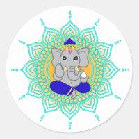 Blue Ganesha labels