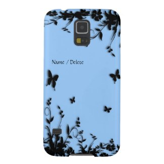 Blue Garden Butterfly Personal Galaxy S5 Cover