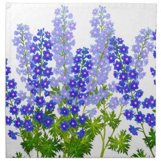Blue Garden Delphinium Larkspur Flowers American M Printed Napkins
