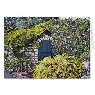 Blue Garden Gate Card