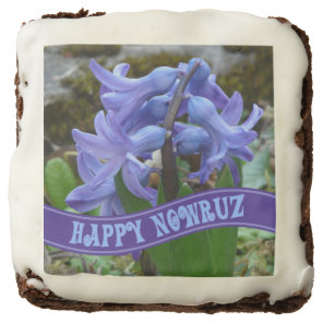 Blue Garden Hyacinth Iranian New Year Nowrooz Chocolate Brownie
