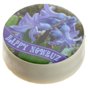 Blue Garden Hyacinth Iranian New Year Nowrooz Chocolate Covered Oreo