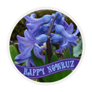 Blue Garden Hyacinth Iranian New Year Nowrooz Edible Frosting Rounds