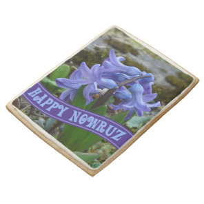 Blue Garden Hyacinth Iranian New Year Nowrooz Shortbread Cookie