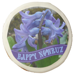 Blue Garden Hyacinth Iranian New Year Nowrooz Sugar Cookie