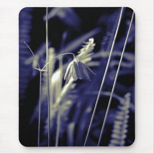 Blue garden mouse pad
