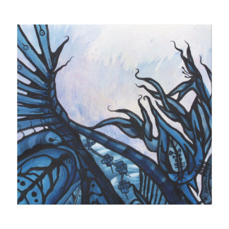 BLUE GARDEN O-ma-ma-ma the earth mother Canvas Print