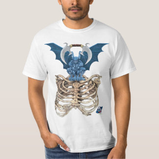 Blue Gargoyle T Shirt - White Only