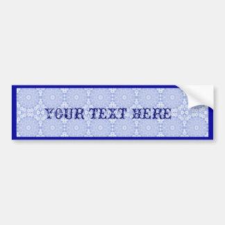 Blue garland bumper sticker