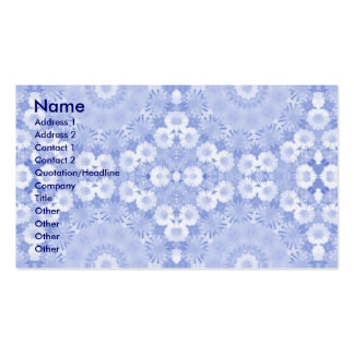 Blue Garland.. Double-Sided Standard Business Cards (Pack Of 100)