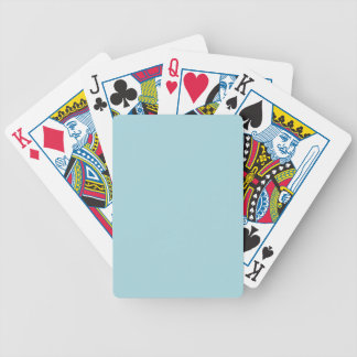 Blue Garter - Pale Baby Blue Uptown Girl Designer Bicycle Playing Cards