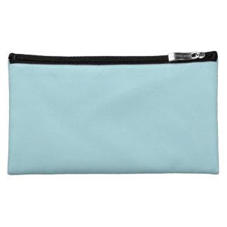 Blue Garter - Pale Baby Blue Uptown Girl Designer Cosmetic Bag