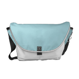 Blue Garter - Pale Baby Blue Uptown Girl Designer Courier Bag