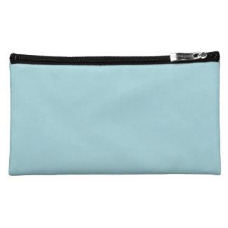 Blue Garter - Pale Baby Blue Uptown Girl Designer Makeup Bag