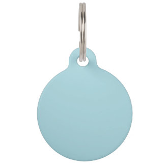 Blue Garter - Pale Baby Blue Uptown Girl Designer Pet Name Tag