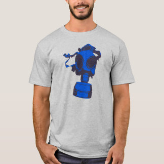 Blue Gas Mask Twofer Crew Long Sleeve T-Shirt
