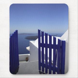 Blue gate mouse pad