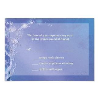 Blue Gate of Dawn Tree Wedding RSVP (3.5x5) Personalized Invites