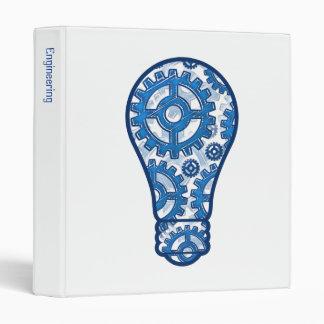 Blue gears light bulb binder
