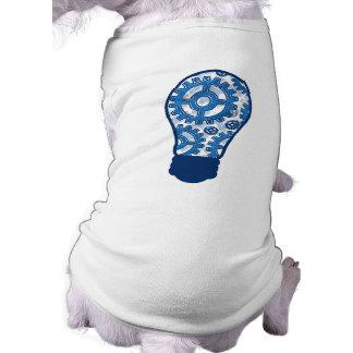Blue gears light bulb shirt