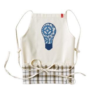 Blue gears light bulb zazzle HEART apron