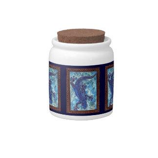 Blue Gecko Candy Jar