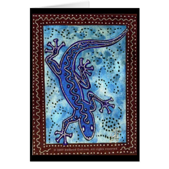 Blue Gecko Card