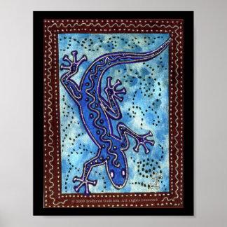 Blue Gecko Print