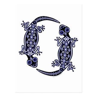 Blue Geckos Totem Postcard