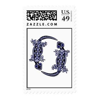 Blue Geckos Totem Stamps
