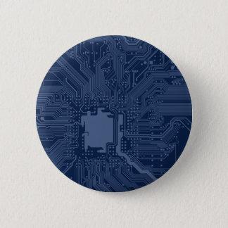Blue Geek Motherboard Circuit Pattern Button