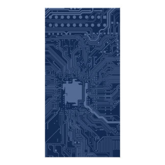 Blue Geek Motherboard Circuit Pattern Card