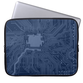 Blue Geek Motherboard Circuit Pattern Computer Sleeves
