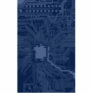 Blue Geek Motherboard Circuit Pattern Cutout