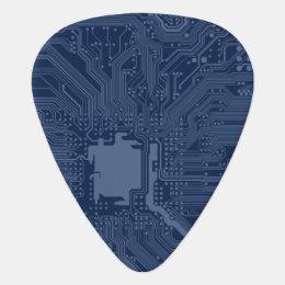 Blue Geek Motherboard Circuit Pattern Guitar Pick