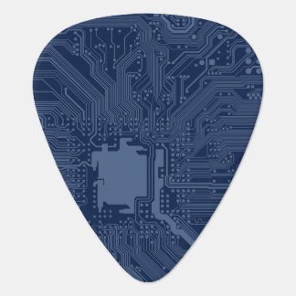 Blue Geek Motherboard Circuit Pattern Guitar Pick