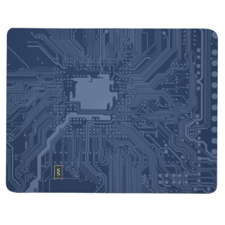 Blue Geek Motherboard Circuit Pattern Journal